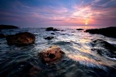 Rhosneigr---Sunset-Splash