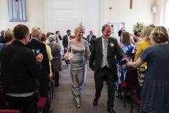 029 - Janet & Pete Walking Down Isle Married a