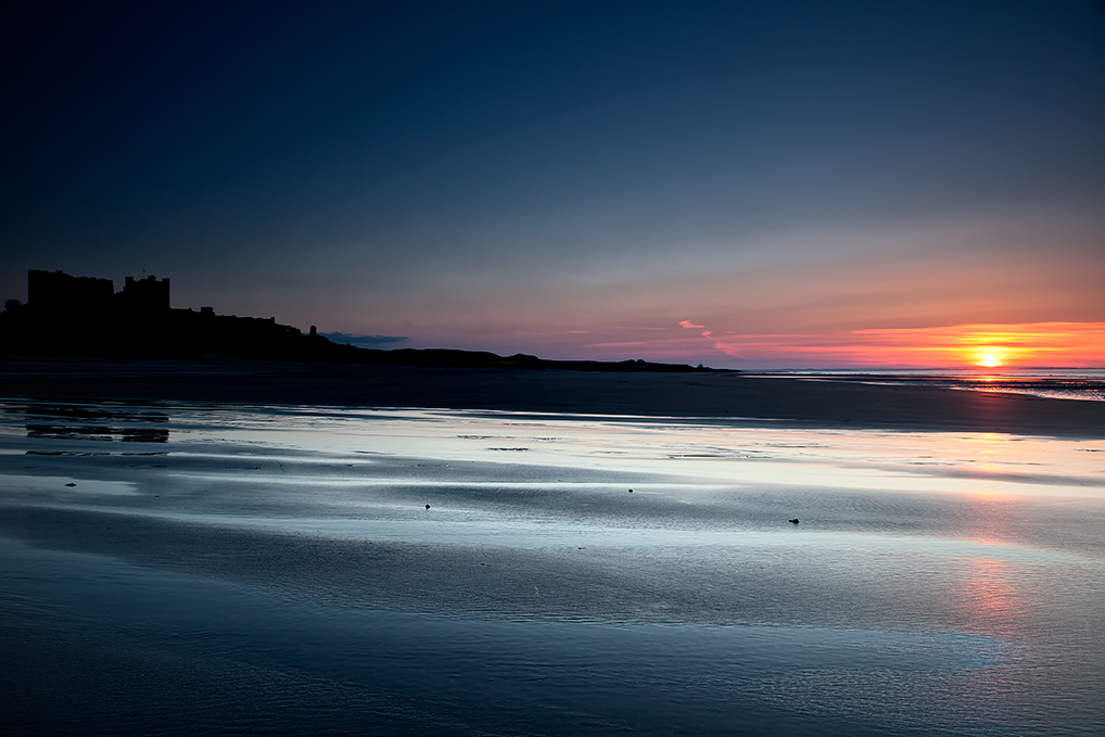 Bamburgh-Sunset-Beach