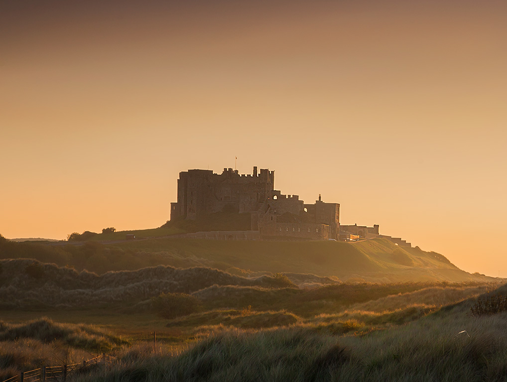 Bamburgh-Castle-Sunset