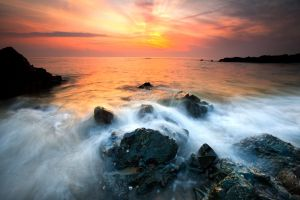 Sunset Mist \'N\' Rocks
