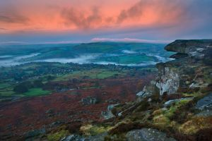 Curbar Rocks and Mist Inversion