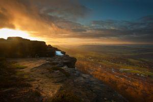 Curbar Sunrise Valley