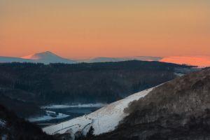 Peaks Snow Sunrise