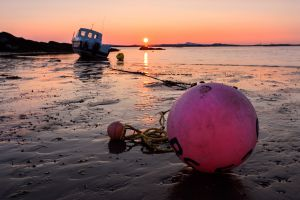 Buoy and Boat Sunset