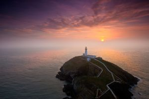 South Stack Sunset Fog
