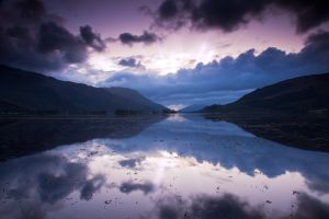Loch Leven - Magenta Glass